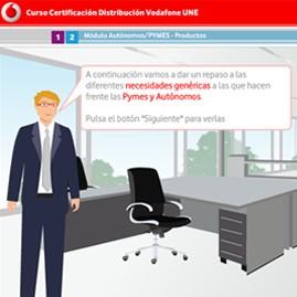 Curso Certificación de comerciales y distribuición de Vodafone