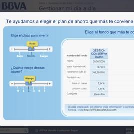 Simulador fondos de inversión de BBVA