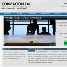 Microsite promocional Formación TAC