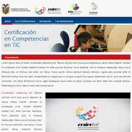 Microsite Certificación TIC