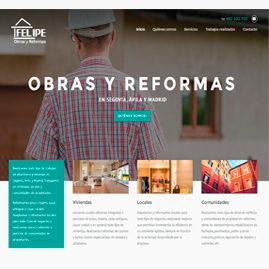 Página Web Obras y Reformas Felipe